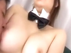 Voluptuous Japanese Bunny Has A Guy Kissing Her Fabulous Bi