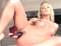 Sweet Blonde Chick Play With Fuck Toy
