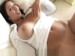 Isabela funny brunette girl playing