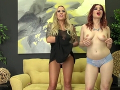 Jessica Ryan sensually drives Alexia Vosse's fiery snatch to pleasure