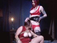 Fat busty babe fucked by alt shemale