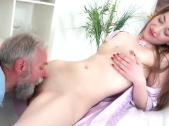 Getting a massage nude
