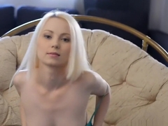 Intense orgasm for cute blonde amateur