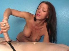 Mature masseuse titfucks clients cock