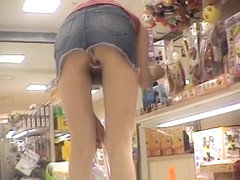 Naughty Asian dolls are exposing their awesome butts upskirt DT-413