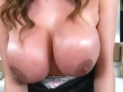 Latin milf sex and cum on tits
