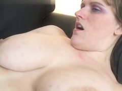 Brunette milf titty fuck with cum on tits