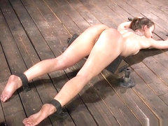 Small Tits Sub In Strict Bondage Whipped