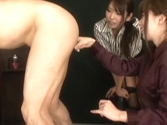 Yui Hatano, Chika Arimura naughty girls dominate guy