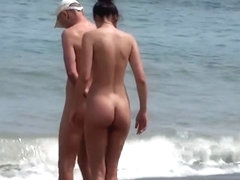 Spying on Hot Naked Girls at the Beach