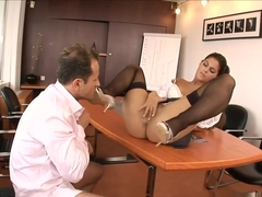 Lazy Secretary Defrancesca Tight Anal Fucked