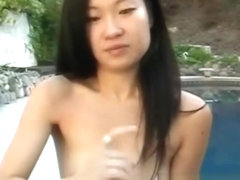 Amateur Asian Outdoor Titty Fucking