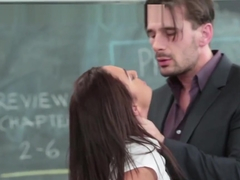 Facialized Schoolgirl Fucked In The Classroom