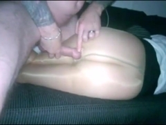 I fuck my pantyhose wife