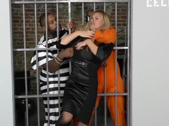 Blonde bitch gets tortured and fucked a female cop