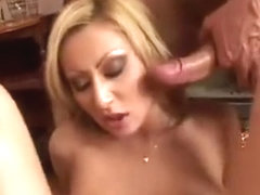 Horny blonde doing two cocks ... xoo5.com