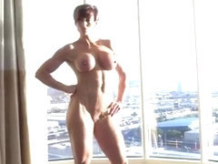 Nude Muscle Posing With A View