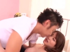 Lovely busty Japanese MILF Akari Hoshino is asking for a facial cumshot