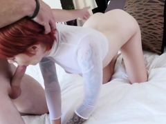 Ginger Ava Little Gets Drilled By Stepdad