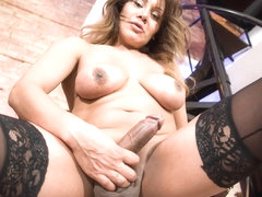 Curvy Samantha Plays With Herself  - TGirl40