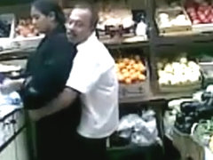 Quick fuck in a fruit shop