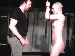 Bald slavegirl Erynn roses spanking and whipping of amateur