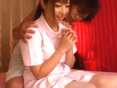 Hottest Japanese chick Cocomi Naruse in Exotic nurse, panties JAV clip