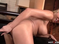 Blond Pornstar Receives A-Hole Screwed With Hotgvibe.