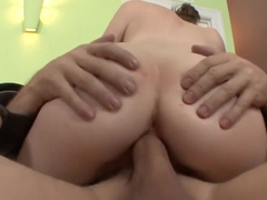 Exotic pornstar Anna Skye in crazy facial, college adult movie