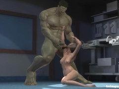 Kreskówka porno supergirl