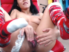 cam model laughs at my little cock then masturbates to orgasm. sph