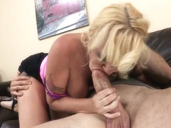 Alana Evans frees Jordan Ash's penis from restrains