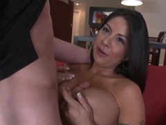 Candi Cox doing a very good blowjob and being banged hard from behind